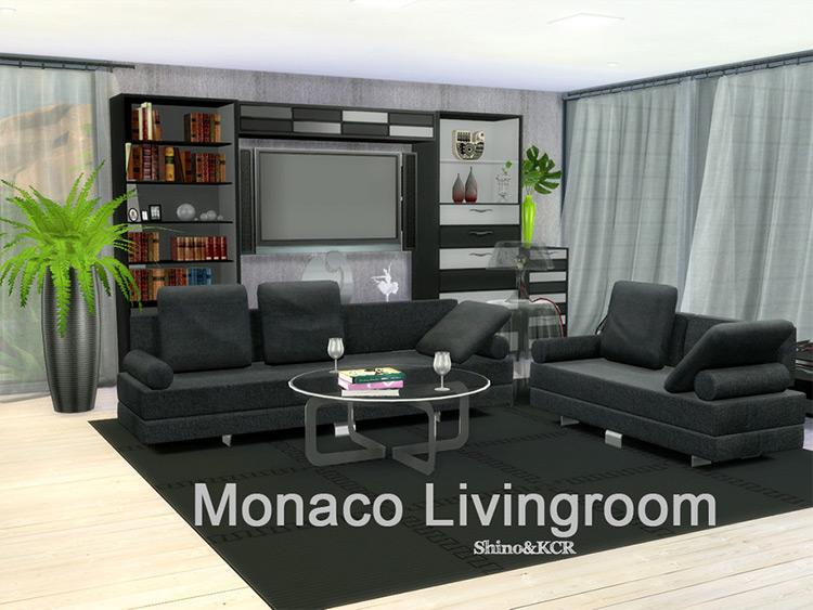 Monaco Living Set - Sims 4 CC