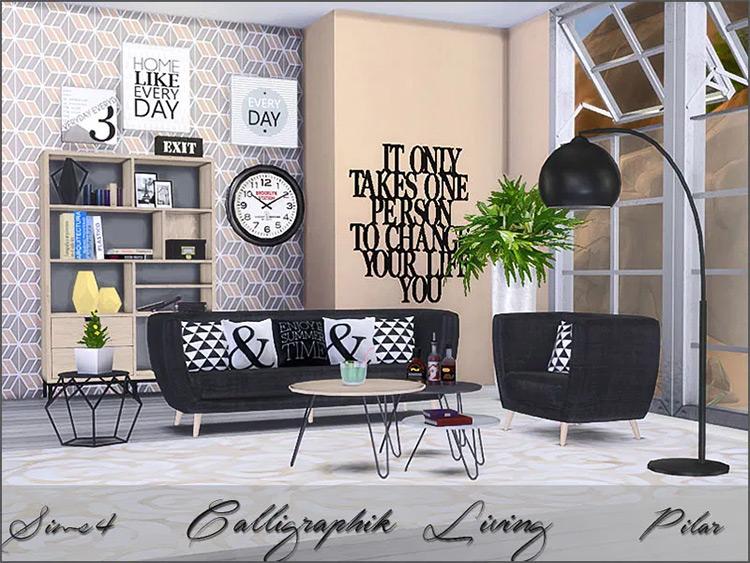Caligraphik Living in Sims 4