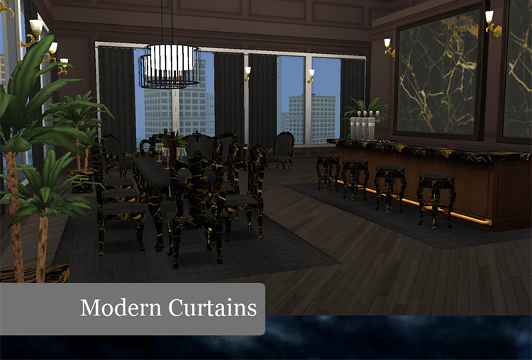 Modern Curtains CC for The Sims 4