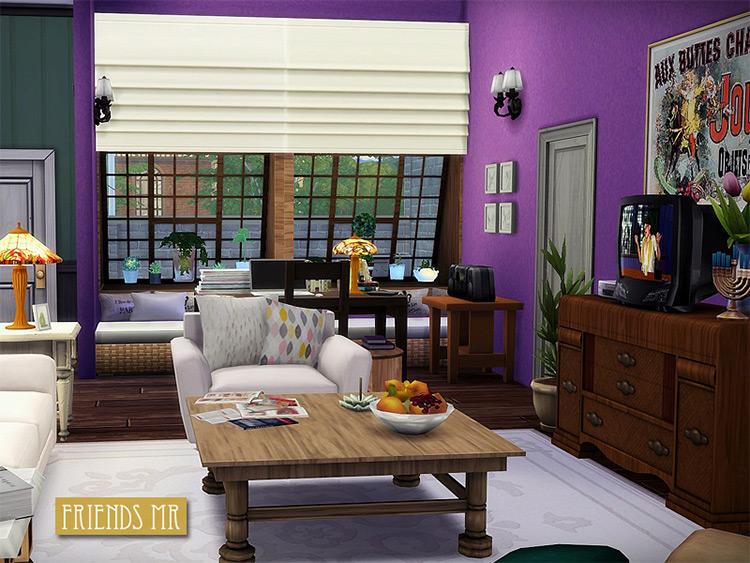 Friends TV Show Living Room - Sims 4 mod