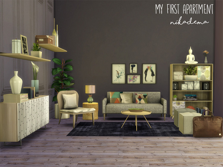 My First Living Room CC set
