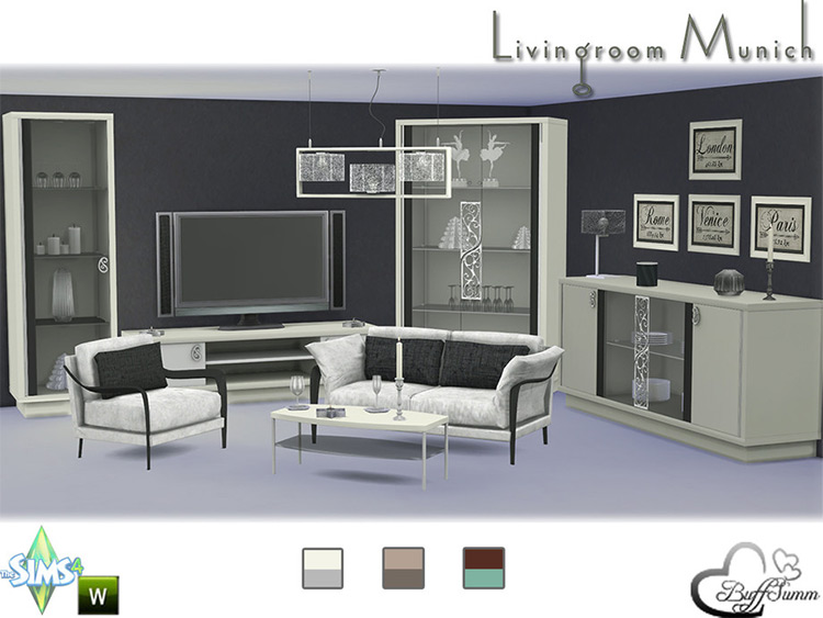 Living Room Munich in The Sims 4
