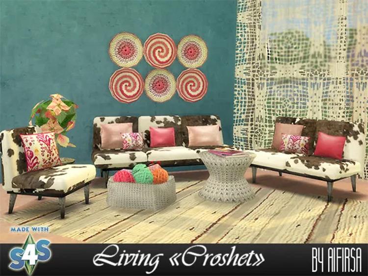 Croshet Living Room CC