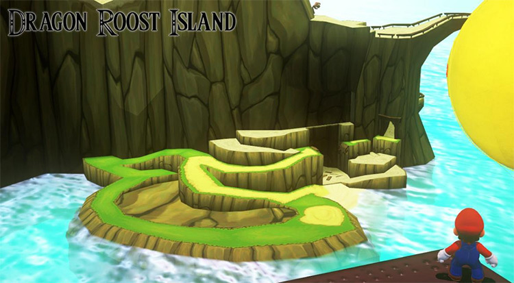 Dragon Roost Island in Super Mario Odyssey