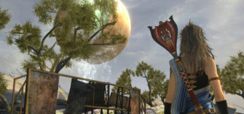 FF13 Fang looking at Cocoon - HD screenshot