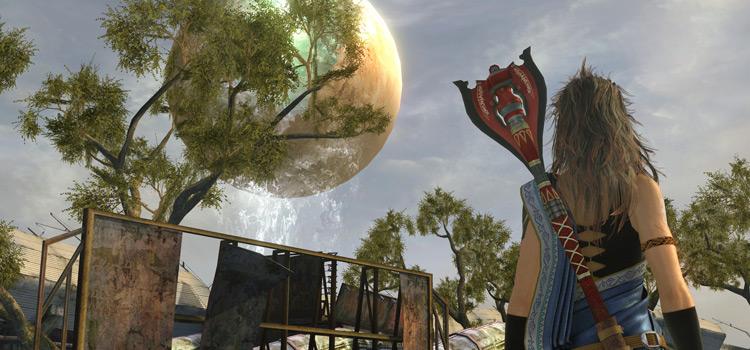 FF13 Fang looking at Cocoon - HD screenshot