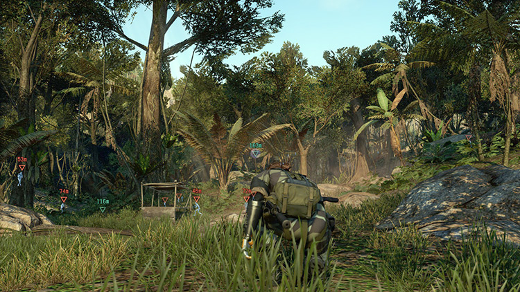 Forest terrain in MGS5 Phantom Pain