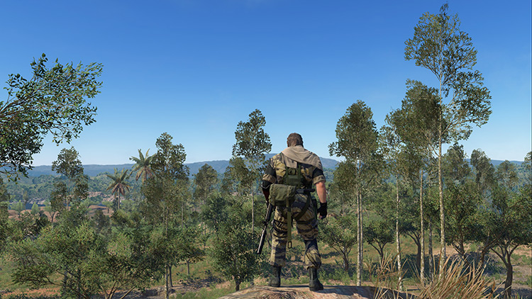 No reshade MGS V gameplay screenshot