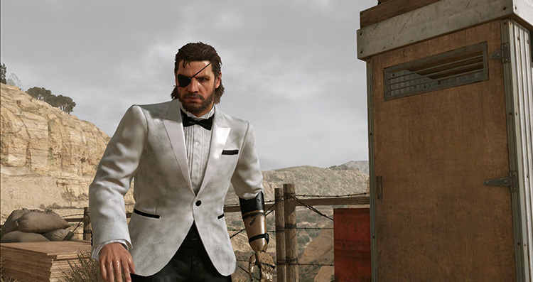 Man in white suit mod - MGS V Phantom Pain screenshot