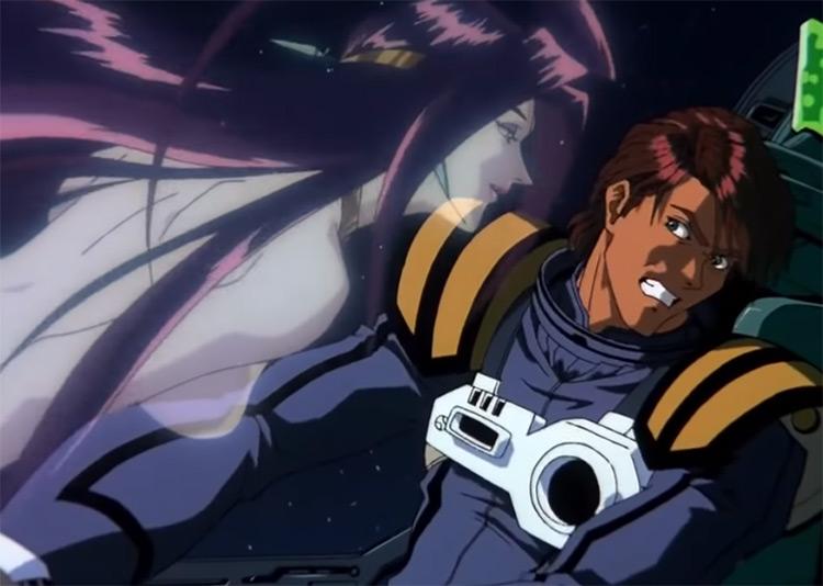 Alien and human in Macross Plus Anime