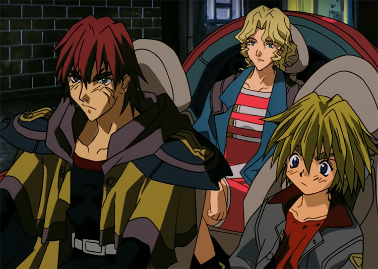 Bounty hunters in Outlaw Star Anime