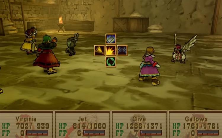 Wild Arms 3 battle screenshot