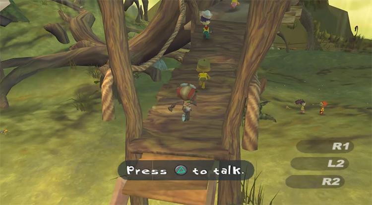 Psychonauts gameplay - PS2 screenshot