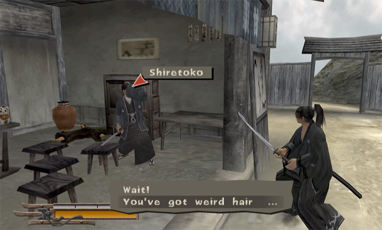 NPC dialogue in Way of the Samurai 2 Game