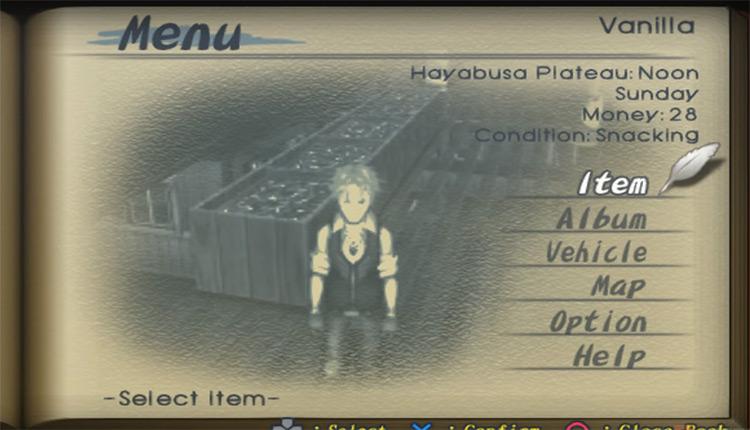 Steambot Chronicles game menu screenshot