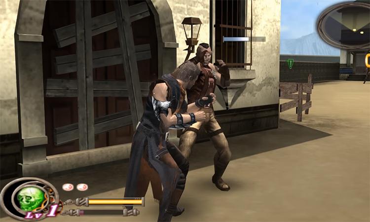God Hand battle screenshot
