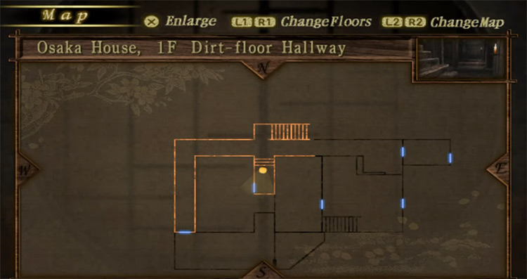 Map in Fatal Frame II: Crimson Butterfly Game