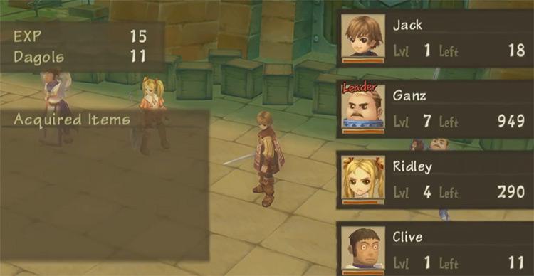 Radiata Stories Battle Scene - PS2 Screenshot