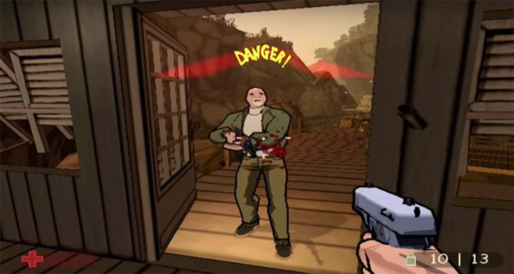 XIII PS2 - Gamelay sceenshot