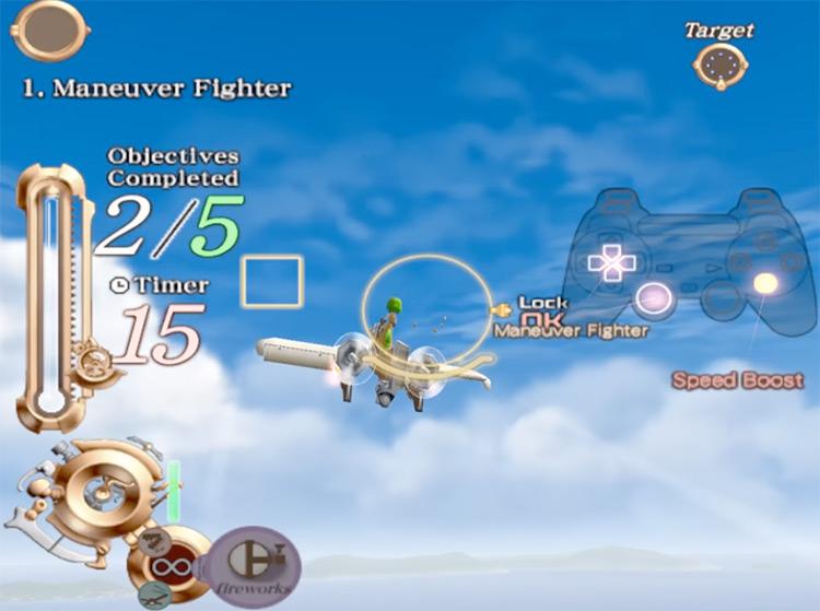 Tutorial scene in SkyGunner PS2 Game