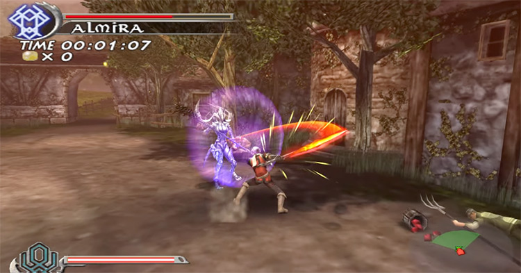 Almira enemy battle in The Sword of Etheria Game