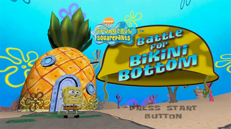 Start Menu - SpongeBob SquarePants: Battle For Bikini Bottom PS2