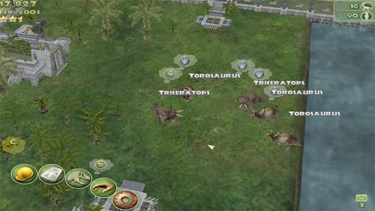 Dinosaurs in Jurassic Park: Operation Genesis Game