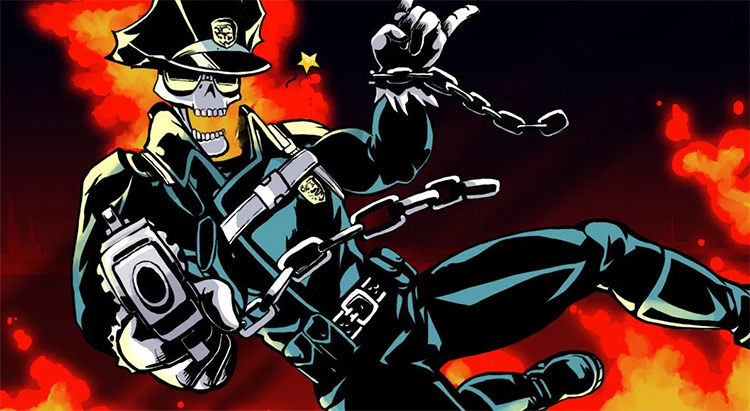 Inferno Cop anime by Studio Trigger
