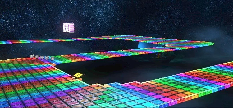 Rainbow Road relighting mod - MK8