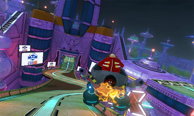 Doctor Eggman modded into Mario Kart 8