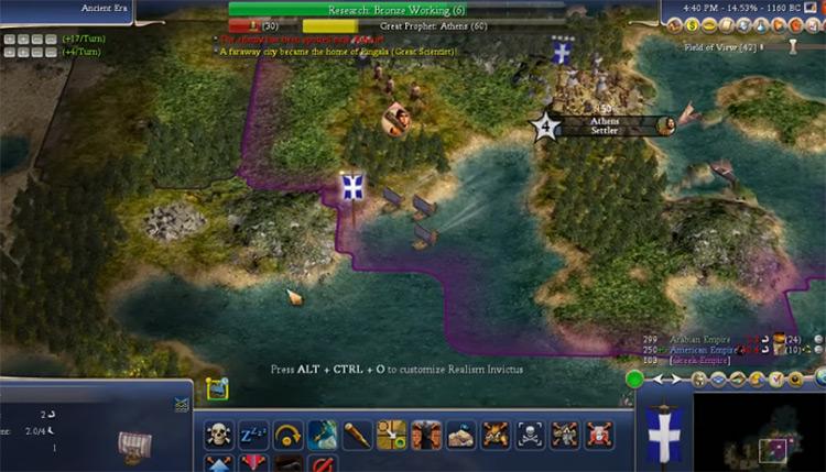 Earth 2010 - Civ4 Mod Screenshot