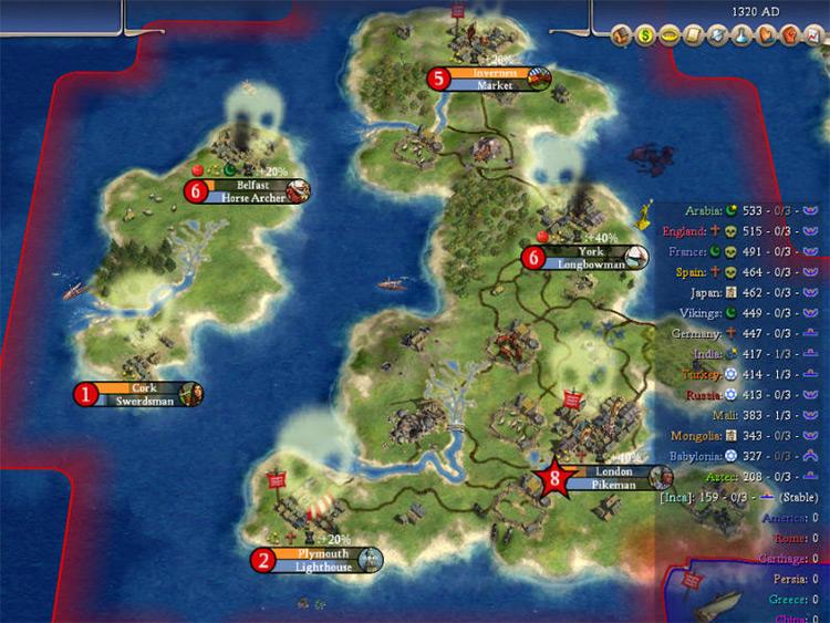 Rhye's and Fall of Civilization Civ4 Mod