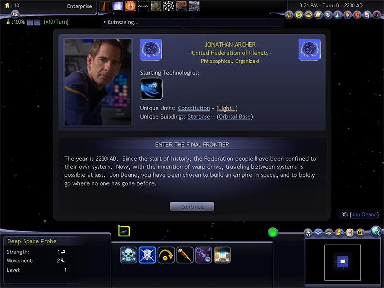 Star Trek Mod for Civ4