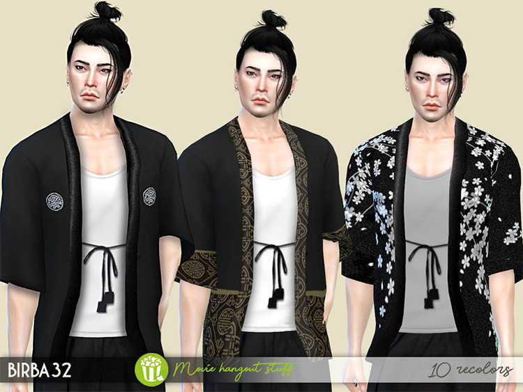Kimono Jacket Set Mod for TS4