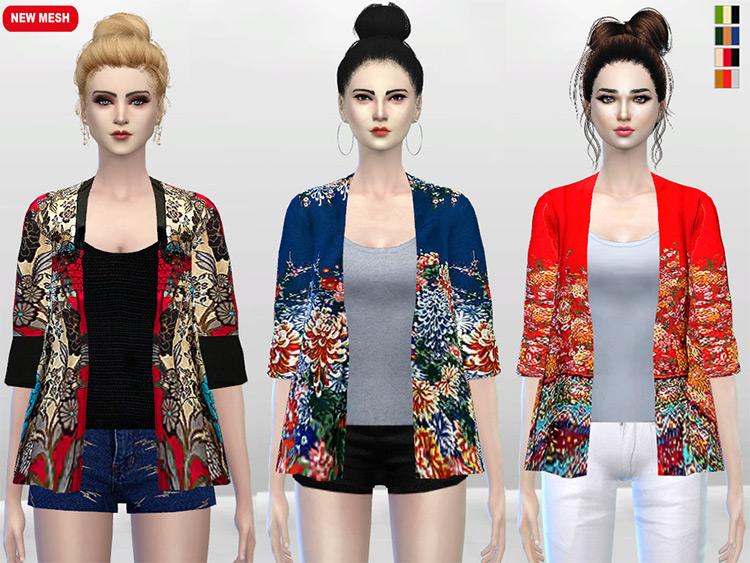 Izanami Kimono Cardigans - Sims 4 CC
