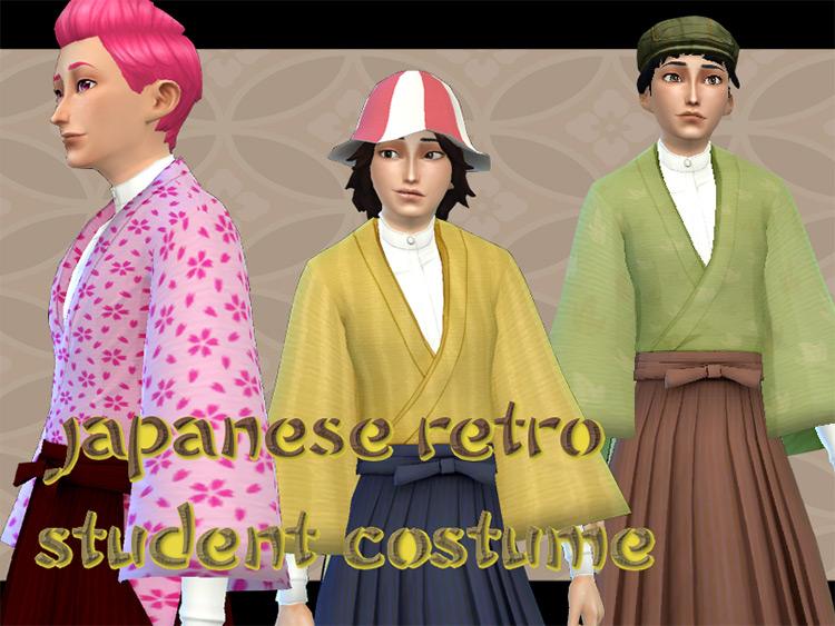 Japanese Retro Student Costume CC