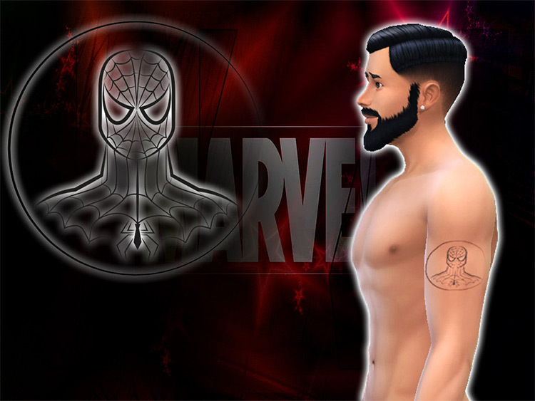 Spiderman Tattoo for TS4