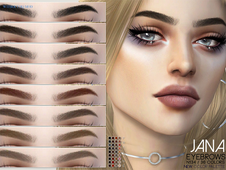 Jana Eyebrows - Sims 4 CC