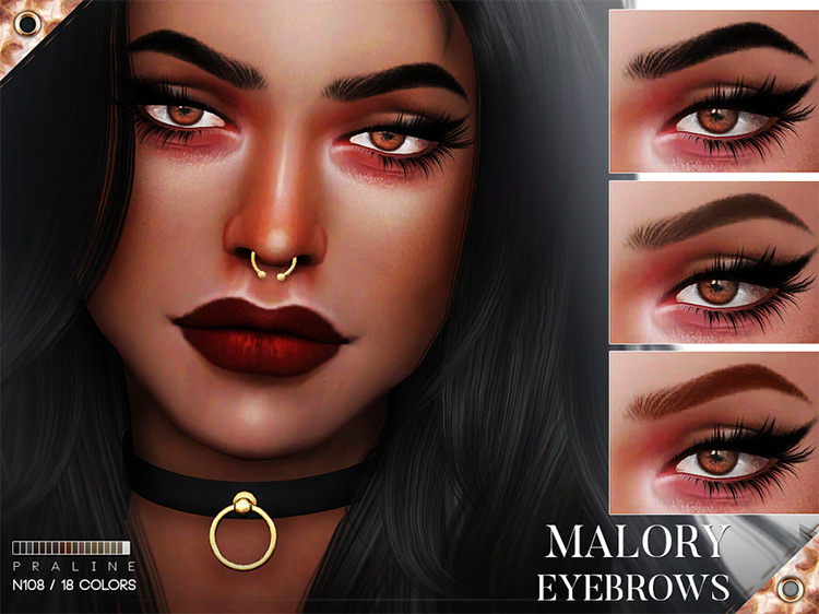 Malory Eyebrows for The Sims 4