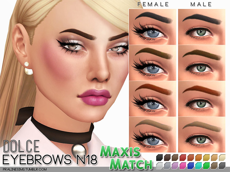 Dolce Eyebrows - Sims 4 CC