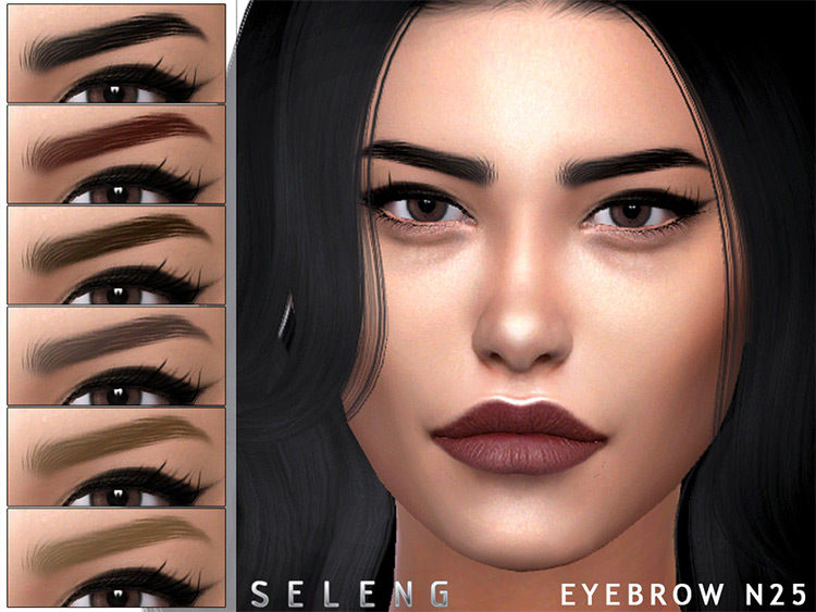 Eyebrows N25 Pack - Sims 4 CC
