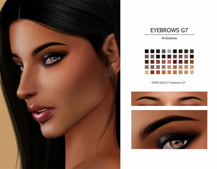 Eyebrows G7 CC pack for TS4
