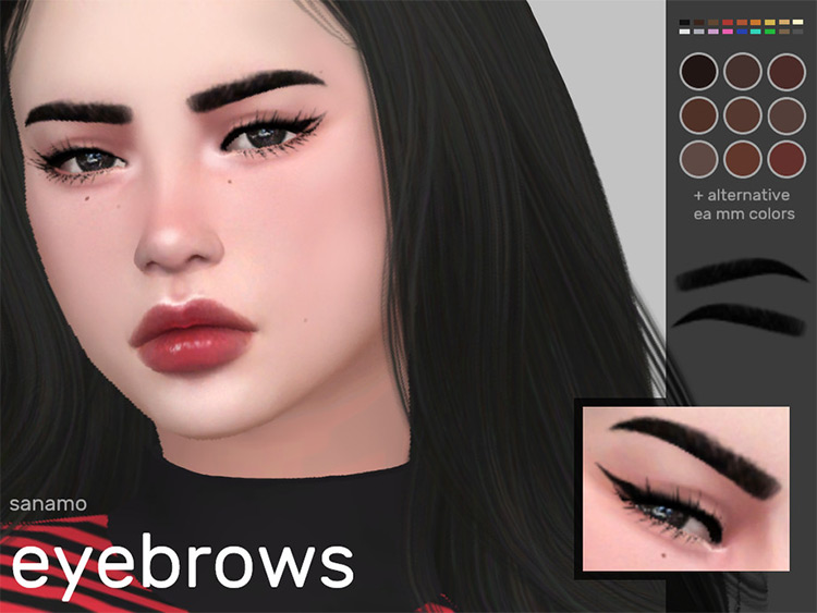 Eyebrows 01 - Sims 4 CC