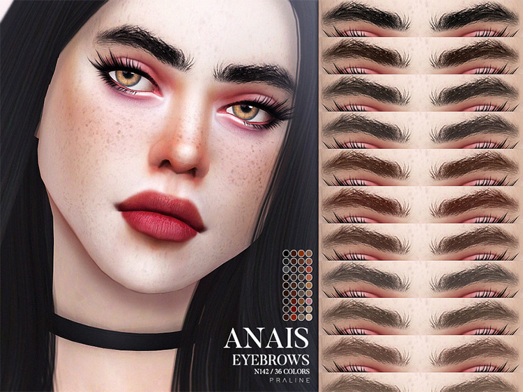 Anais Eyebrows CC for Sims 4