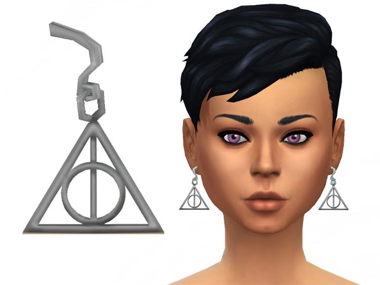 Deathly Hallows Earrings - Sims 4 CC
