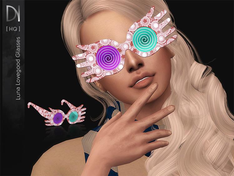 Luna Lovegood Glasses - Sims 4 CC