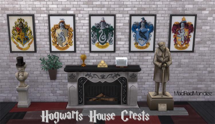 Harry Potter House Crests Decor - Sims 4 CC