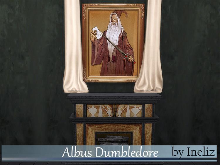 Albus Dumbledore Wall Art - Sims 4 CC