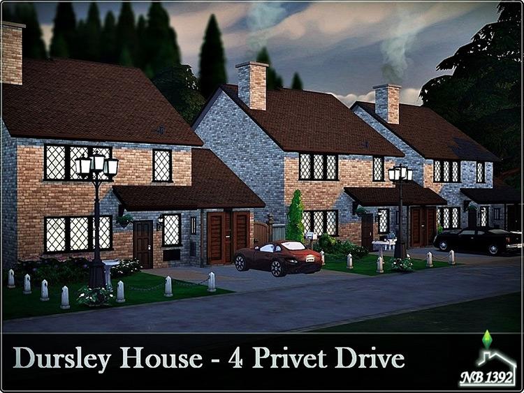 Dursley House - Sims 4 Lot CC