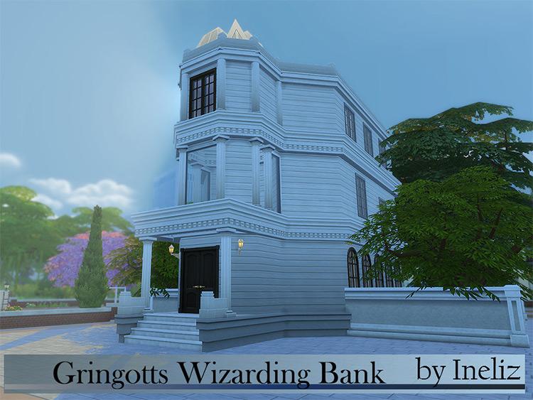 Gringotts Wizarding Bank - Sims 4 CC